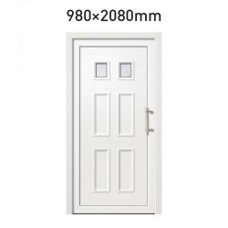 Plastové hlavní vchodové dveře 980 x 2080 mm - DOLOMIT