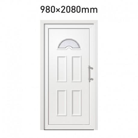 Plastové hlavní vchodové dveře 980 x 2080 mm - OPÁL
