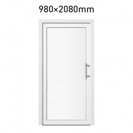 Plastové hlavní vchodové dveře 980 x 2080 mm - plné