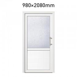 Plastové hlavní vchodové dveře 980 x 2080 mm - dělené 3/2