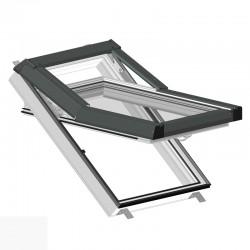 Plastové okno střešní 550 x 780 mm - bílé